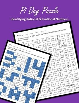 Pi Day Puzzle, Irrational and Rational Numbers