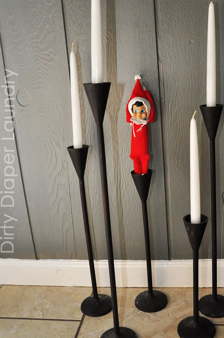 elfcandle.jpg 900×1,355 pixels ~ Elf on the Shelf posing as a candle