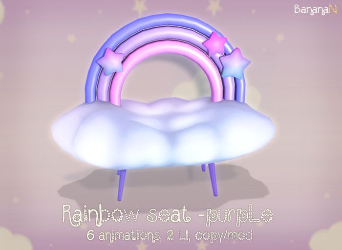 RAINBOW seat Available @ BananaN inworld store in Second Life.