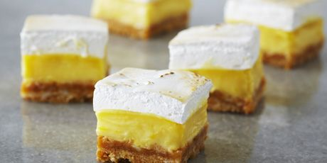Lemon Meringue Squares - from Bake with Anna Olson - love her recipe for the meringue