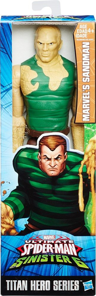 An evil shape-shifter, Sandman has massive strength and can shape-shift his body to any form! Imagine causing big-city chaos with this Titan Hero Series Marvel's Sandman figure! Each Titan Hero Series