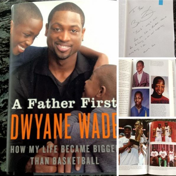 Dwyane Wade Gives Signed Copy of His Book, 'A Father First,' to LeBron James (Photo)