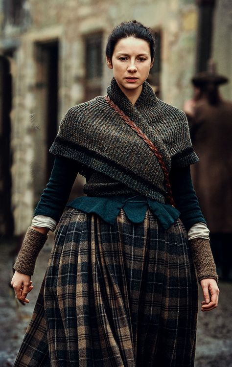 The knitted clothes on Outlander are amazing. This wrap...