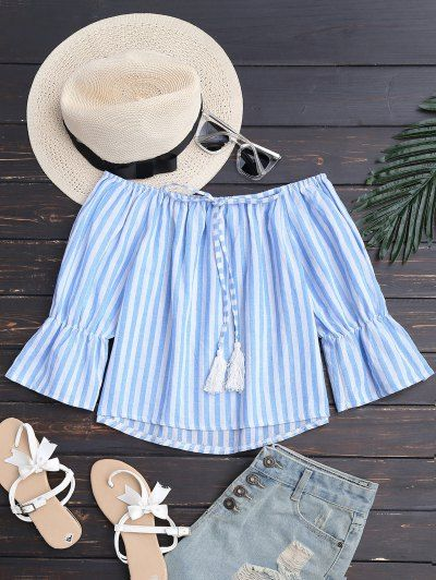 GET $50 NOW | Join Zaful: Get YOUR $50 NOW!http://m.zaful.com/tie-front-off-shoulder-striped-top-p_279978.html?seid=3035617zf279978