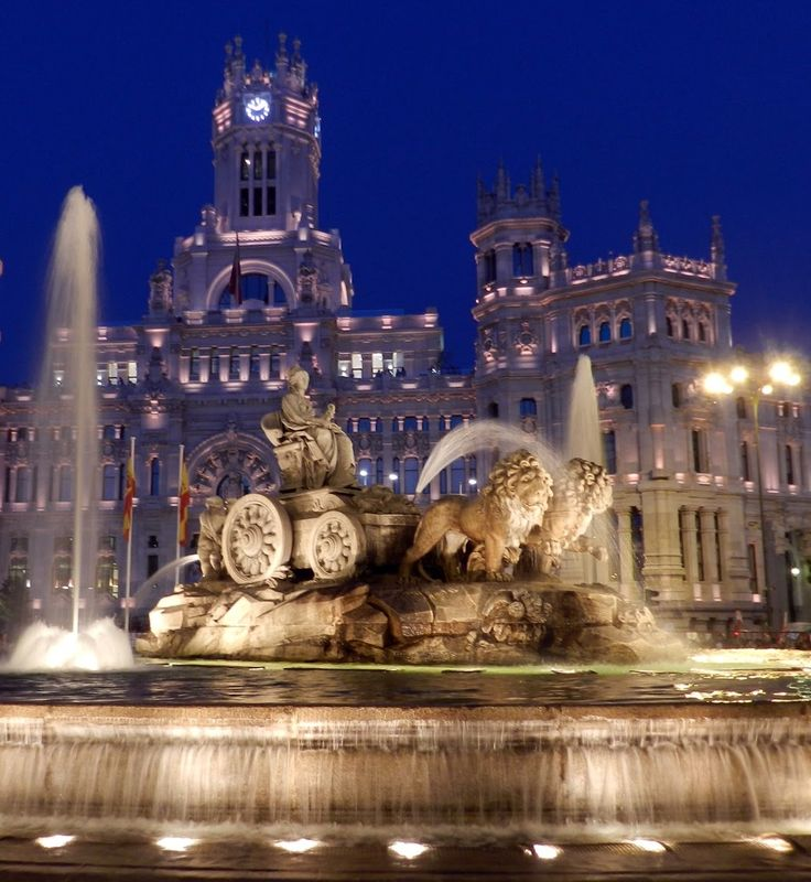 THE FOUNTAIN OF CIBELES, MADRID SPAIN #architecture #building #design #spain #travel