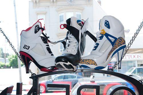 High Heel Jordans by Terry Richardson.