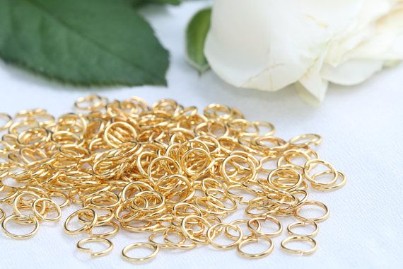24K Gold Plated Jump Rings7mm Jump RingsConnectorSKU/Z12