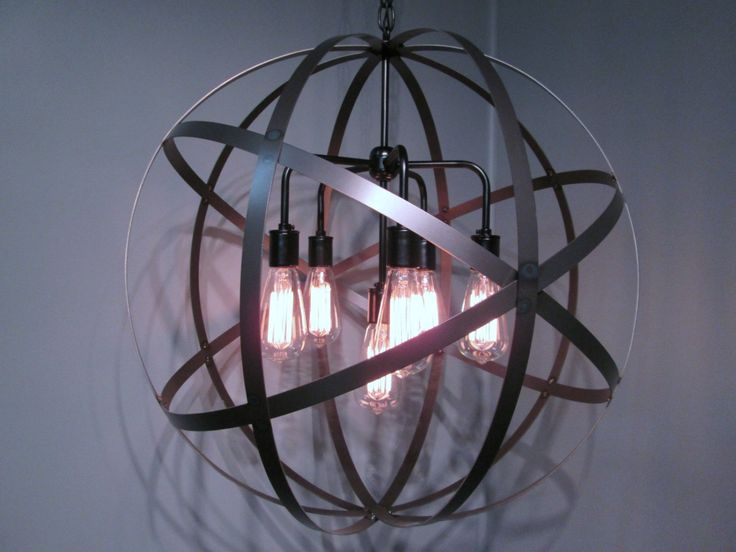 Industrial Ceiling Light Globe Sphere 24 Quot Diameter Steel