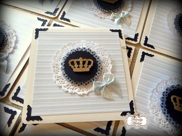 Convite Príncipe com Azul Marinho