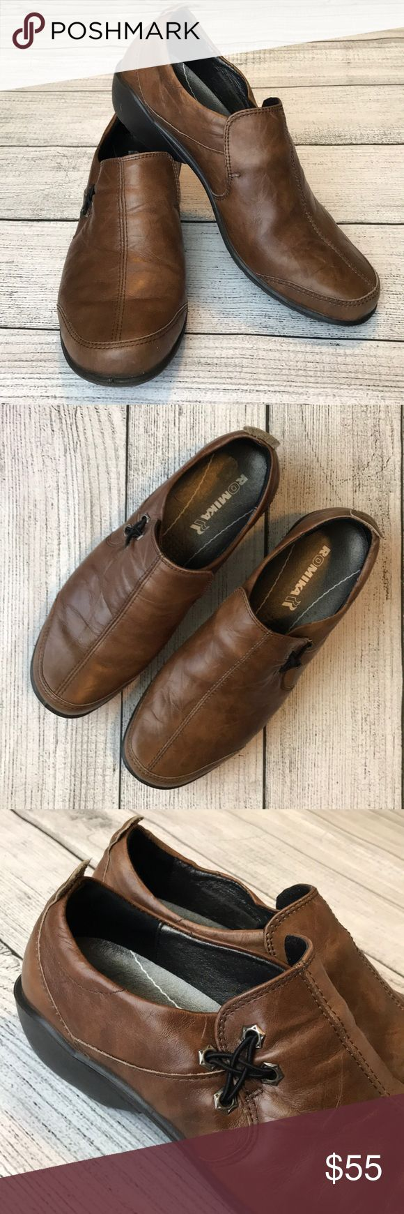 Romika leather shoes Brow leather Romika shoes. Size 39. Romika Shoes