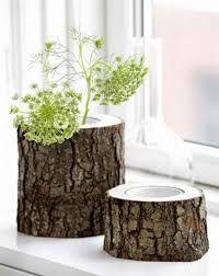 Resultado de imagen para artesania con troncos de arboles
