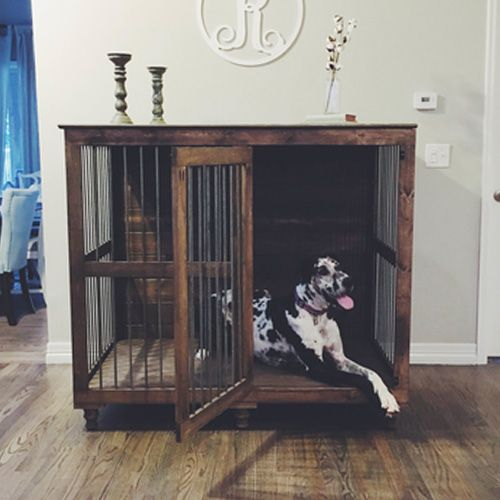 Beautiful Indoor Wooden Dog Kennels and Dog Crate Furniture
