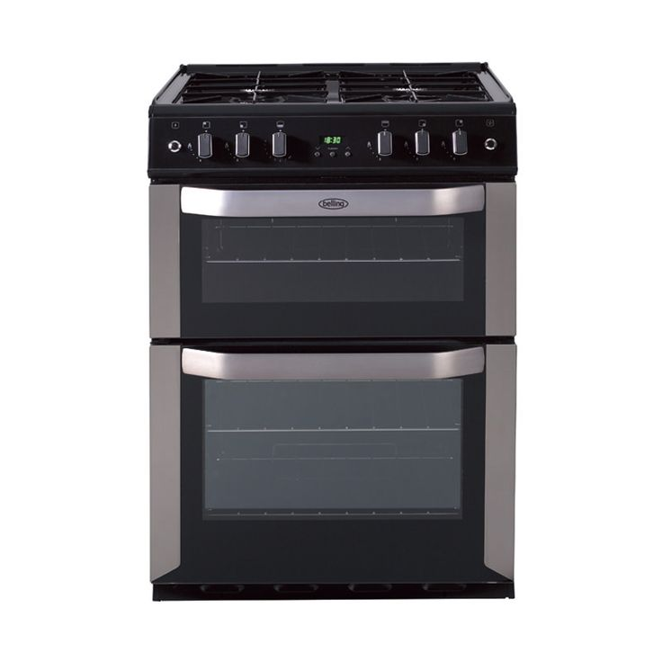 Freestanding 60cm gas cooker with fanned oven - stainless steel, LPG #Belling #UKmade #madeinBritian #British #cooker