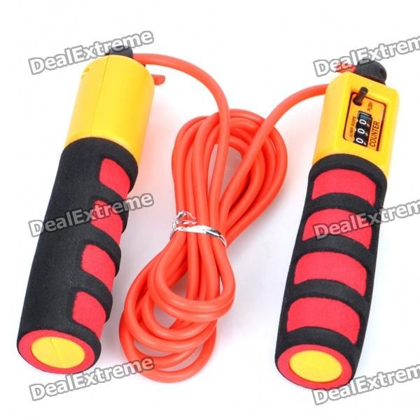 Model: Ninja NS390 - Material: Rubber + engineering plastics - Built-in 3-digit counter, counts between 0~999 - Soft plastic rope with foam anti-slip hand grips for best comfortable use - Rope length: 280cm - Ideal for sports, exercise, endurance and fitness training http://j.mp/1ljBRCD