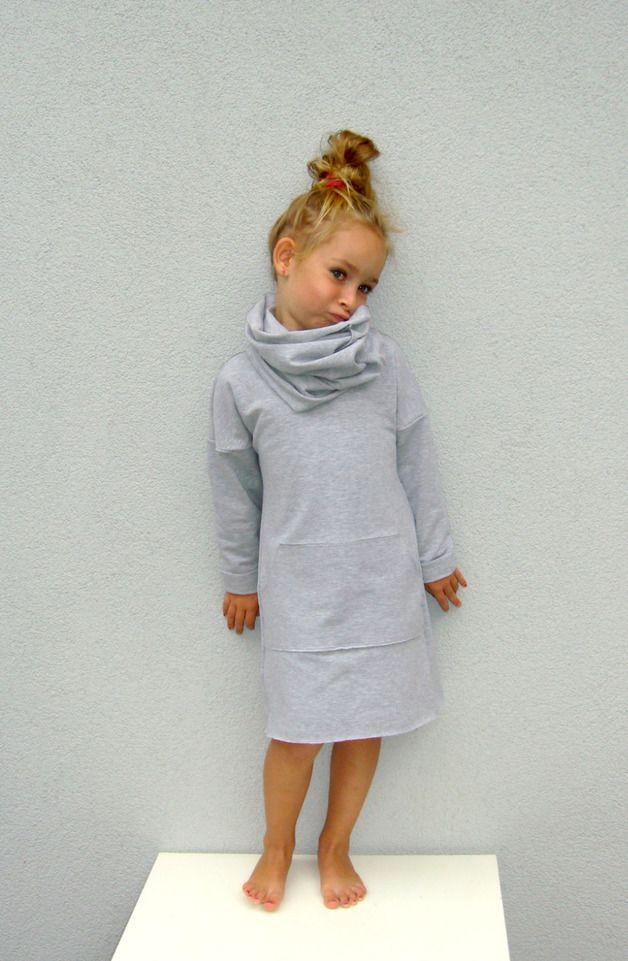 Grey Dress with kangaroo pockets