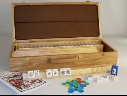 Mahjong sets and accessories.