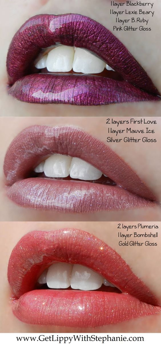 """LipSense colors can be layerd for AMAZING looks! Visit my website at www.GetLippyWithStephanie.com for more LipSense Color """"cocktails"""". ID# 20689"""