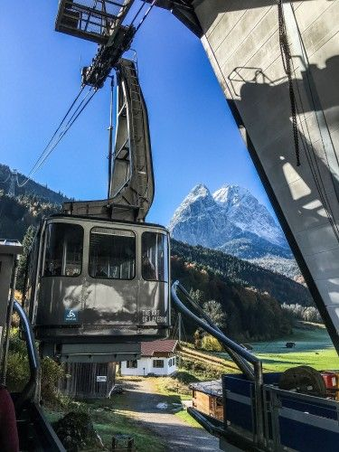 Garmisch Classic- Gondola ride. The most famous is the Zugspitze, where a $52 euro ticket gets you on a gondola (or gondola + cogwheel train combo– your choice) to the top of the nearly 10,000 foot-high peak. But arguably the 2nd most popular is the Garmisch Classic, half the price at $26 euro, which is what we opted to do.