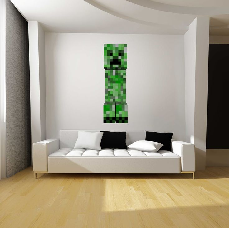 Minecraft Creeper Fathead Style Repositionable Graphic Decal Sticker Great  Gift