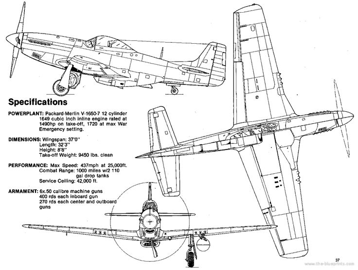 P 51 Mustang Engine Specs