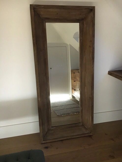 Houten spiegel - 80x150cm
