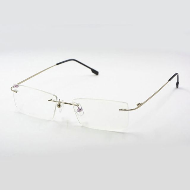 a2bb50f42a28 Discover ideas about Mens Prescription Glasses. Reven Jate Titanium Memory  Flexible Rimless Frame Eyeglasses ...