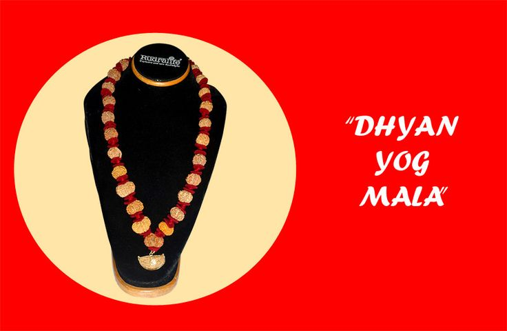 Dhyan Yog mala: Dhyan Yog mala is a combination of 1 mukhi, 9 mukhi, 11 mukhi, Gaurishankar and 28 beads of 5 mukhi. Total number of beads are 32. This combination is extremely good for reaching higher goals in sprituality. Highly beneficial for Dhyan, samadhi, meditation, opening of chakras. http://www.rudralife.com/Rudraksha/details.php?id=90