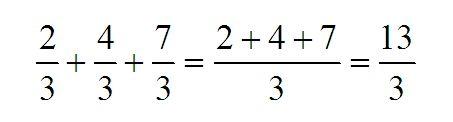 Mathematics, spirit and art - Mathématiques esprit et art - Matematica spirito e arte: Ejemplo de suma de fracciones de igual denominador...