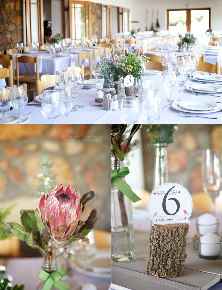 DIY fynbos wedding decor | image by Cape Town Wedding Photographer Michelle Joubert-Martin