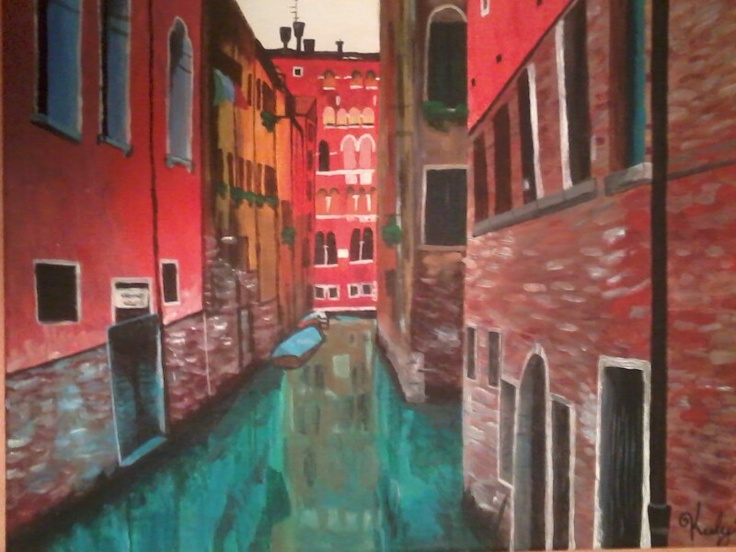 My Acrylic Painting Of Venice Italy By Keely Burke My