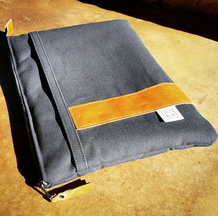 Made To Order Canvas Laptop Sleeve - W & B