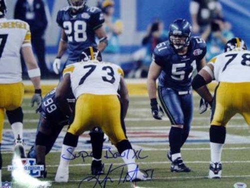 "Lofa Tatupu Autographed 16x20 Photo Seattle Seahawks """"Super Bowl XL"""" PSA/DNA Stock"