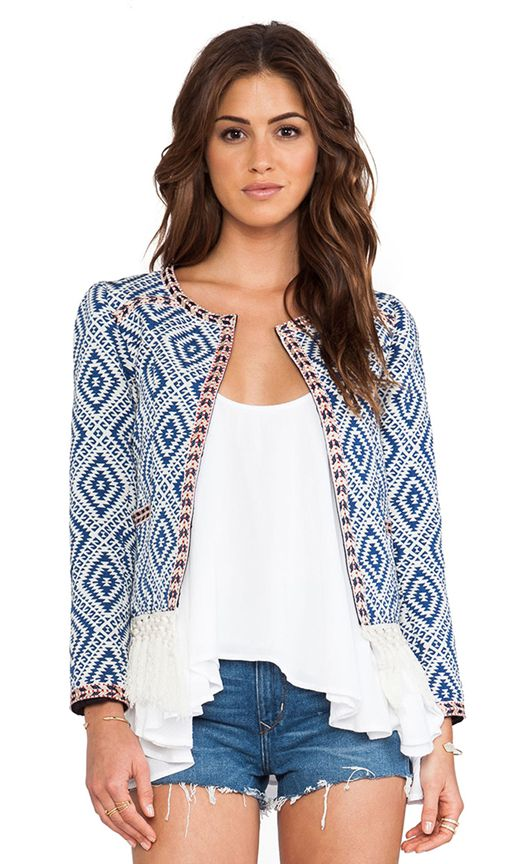 Tularosa Santa Fe Fringe Jacket in Diamondback-M