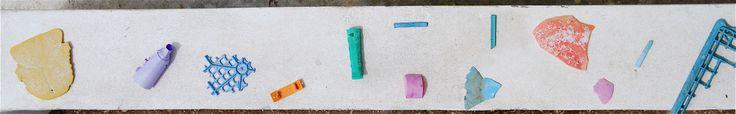Beach plastic collecting/art