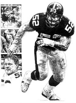 Mike Webster NFL Pittsburgh Steelers Football Player Poster