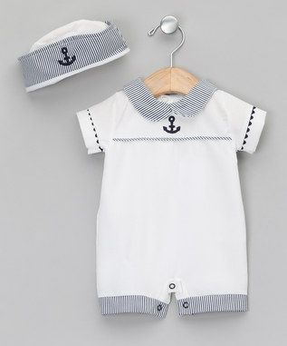 White & Blue All-in-One - Newborn & Infant