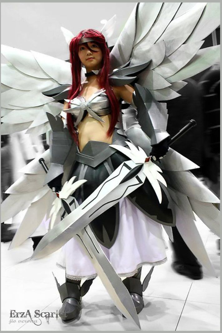 AMAZING cosplay ll FairyTail II Erza Scarlet in Heavens Wheel Armor by Kristell Lim