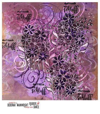 * Rubber Dance Blog *: Mixed Media Art Journal Page