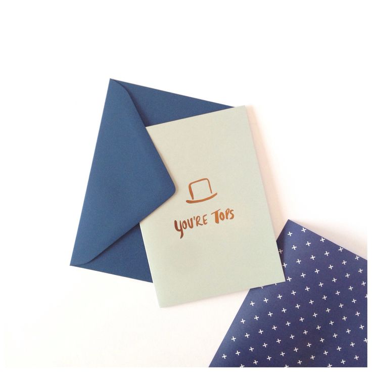 You're Tops Card + Navy Double Sided Wrap.