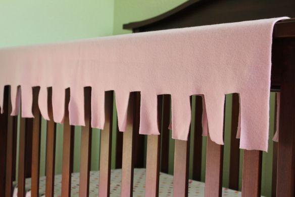 No sew baby rail guard cover