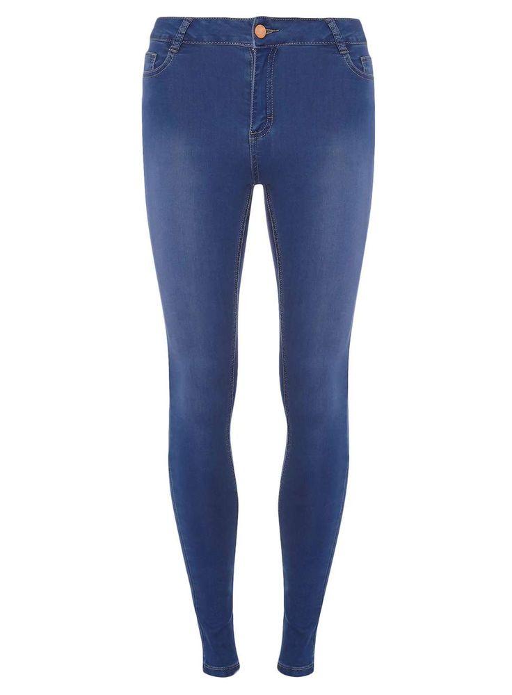 Womens Bright Blue Premium Bailey Super Skinny Ultra Stretch Jeans- Blue