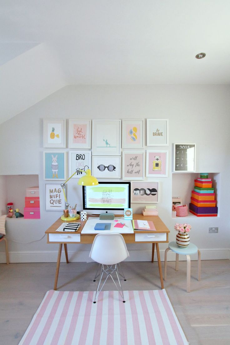 Colorful  workspace inspo