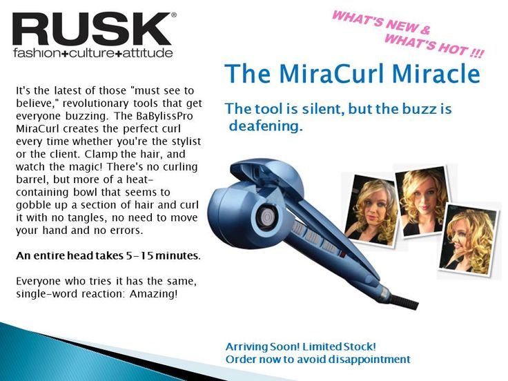 Miracurls have arrived, Limited stock, book now to avoid disappointment  http://www.youtube.com/watch?v=M5b5JylAtIw