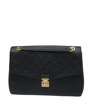 Louis Vuitton |  Bolso de hombro negro del cuero de Louis Vuitton Saint Germain Mm Empreinte