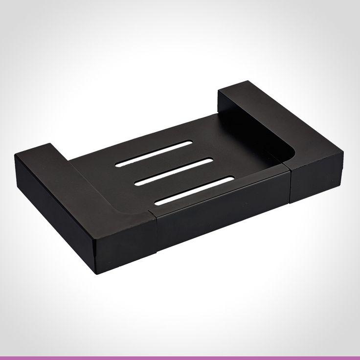 Vivace matte black soap holder