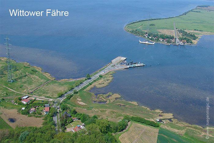 Luftaufnahme der Wittower Fähre