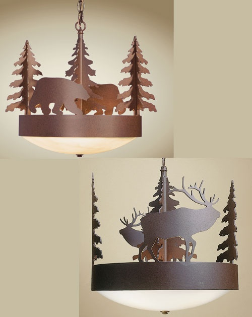 Rustic Profiles Scout Chandelier (Design Your Own) These would look really good in the little house!