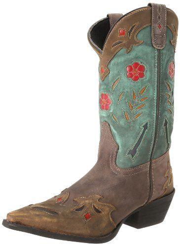 Laredo Women's Miss Kate Western Boot,Brown/Teal,10 M US Laredo http