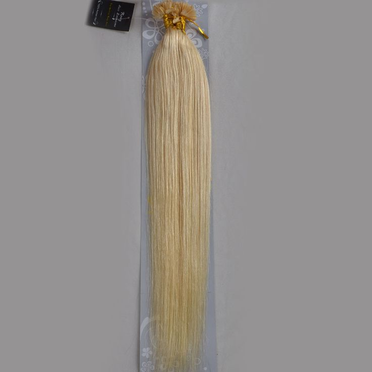 "Wholesale Indian 18""-32"" Women Remy Keratin Nail Tip U tip Human Hair Extensions Straight 1g/s 100s Platinum Blonde #60"