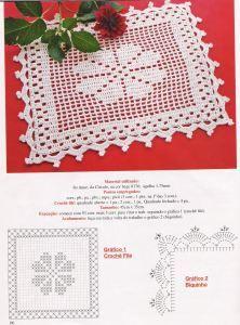 Toalhinha de barbante em crochet filé | Soniando